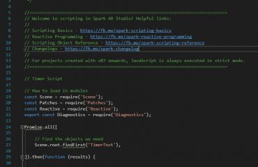 Spark AR v85 Code Examples