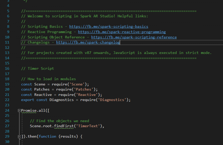 Spark AR Studio v85+ Script Examples