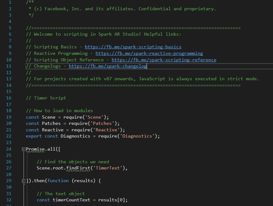 Spark AR Scripting Examples