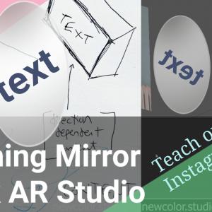 Teaching on Instagram Live: Teaching Mirror Spark AR Studio Tutorial