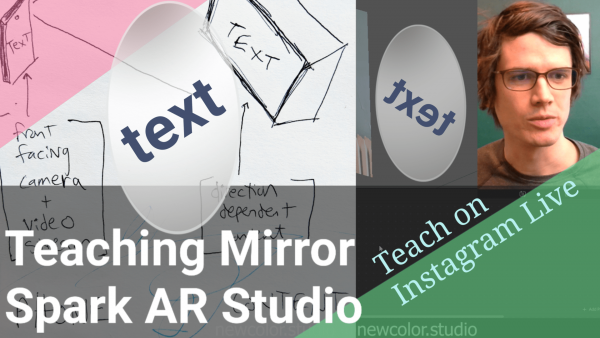 Teaching on Instagram Live: Teaching Mirror Spark AR Studio Tutorial