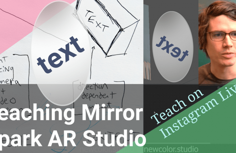 Teach online with Instagram Live: Easy Mirror Effect for Spark AR Tutorial