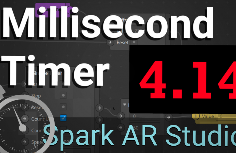Millisecond Timer: Spark AR Tutorial
